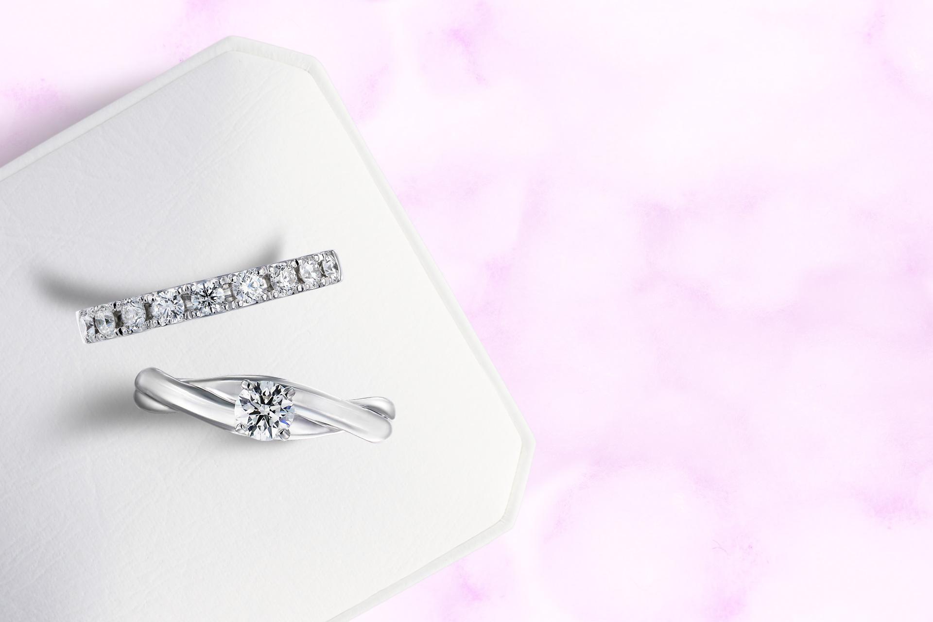エンゲージリング、エタニティリングは永遠の愛の証し。厳選したダイヤモンドの美しさを是非ご覧ください。