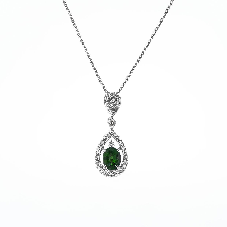 アレキサンドライトとダイヤモンドのネックレス 01