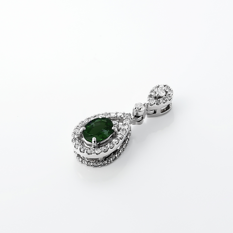 アレキサンドライトとダイヤモンドのネックレス 02