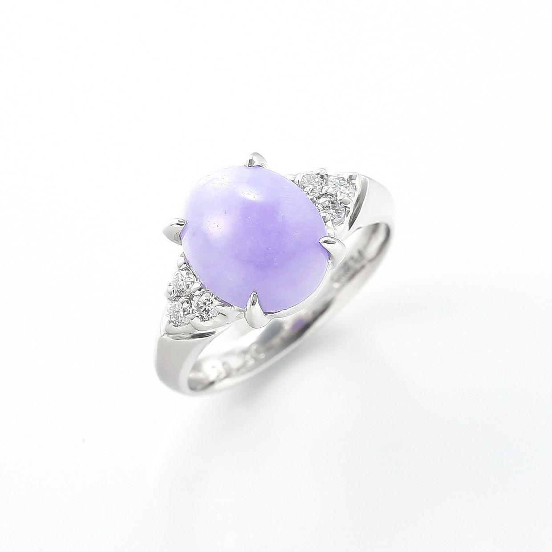 ラベンダーヒスイとダイヤモンドのリング 01