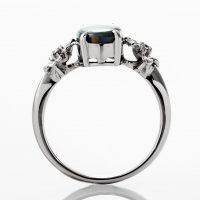 ブラックオパールとダイヤモンドのリング 03