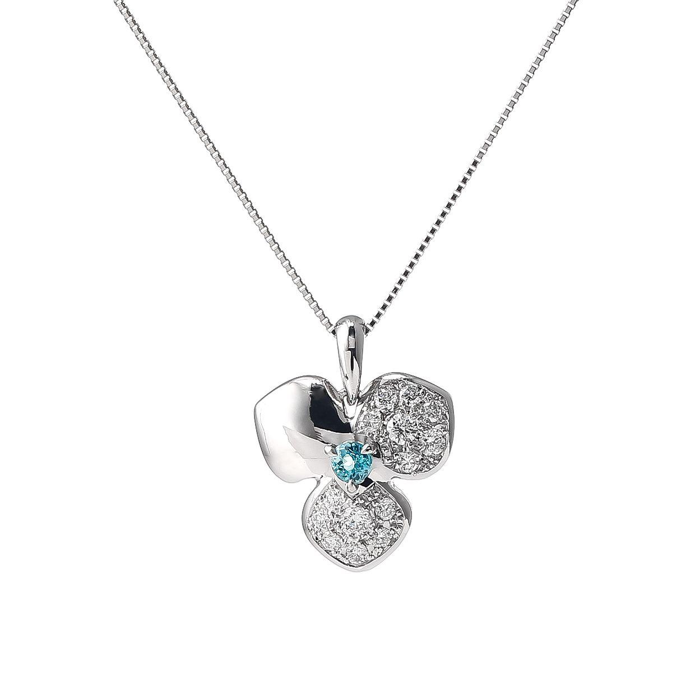 パライバトルマリンとダイヤモンドのペンダント 01