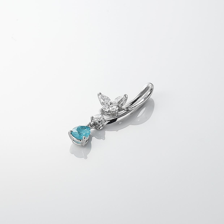 パラバトルマリンとダイヤモンドのネックレス 01