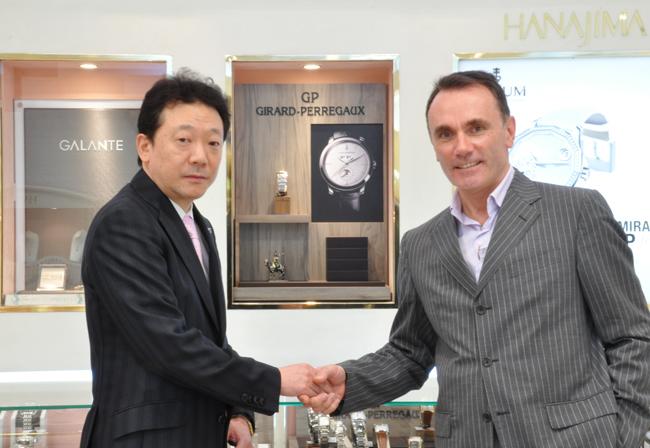 ジラール・ペルゴ スイス本国のインターナショナル セールスディレクター ジーン・マーク・ボリス氏(MRjean-Marc BORIES)が来店されました