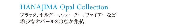 HANAJIMA Opal Collection ブラック、ボルダー、ウォーター、ファイアーなど希少なオパール200点が終結!
