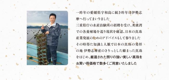 三重県伊勢志摩産真珠 厳選した照りの強い美しい真珠をお買い得価格で多数ご用意いたしました