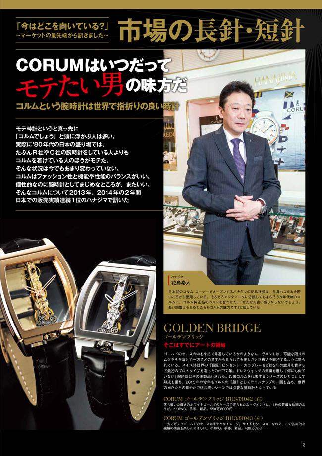 おとこの腕時計Vol45 コルム01
