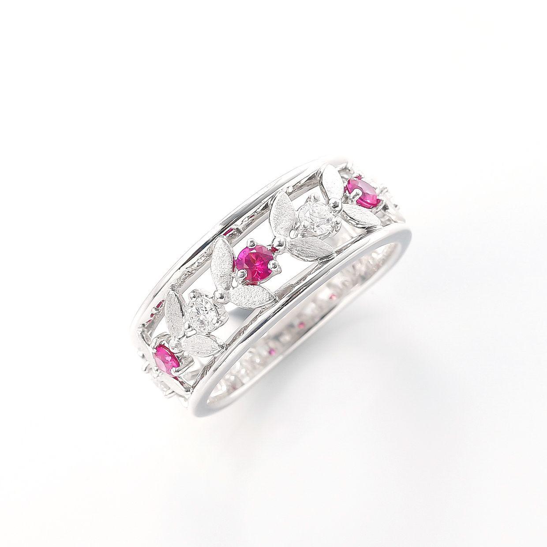 ルビーとダイヤモンドのリング 01