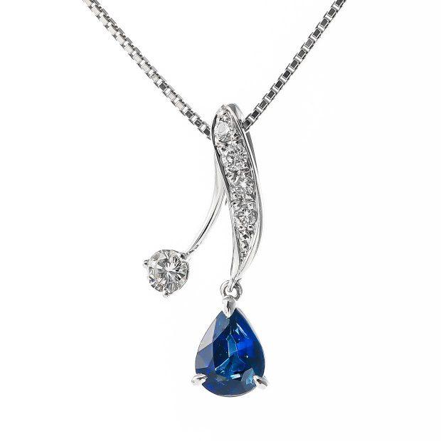 サファイアとダイヤモンドのネックレス 01