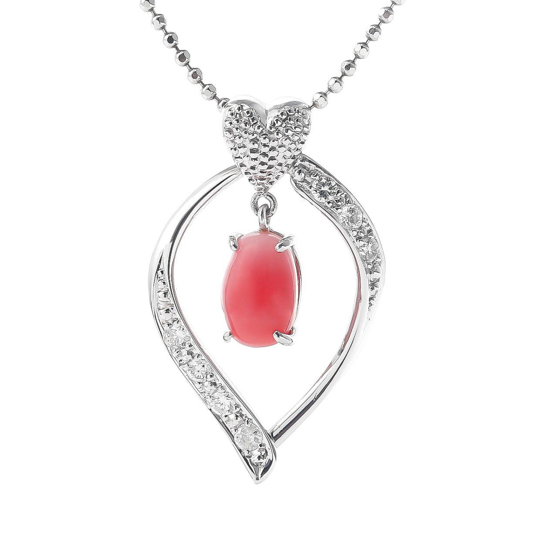 コンクパールとダイヤモンドのネックレス 01