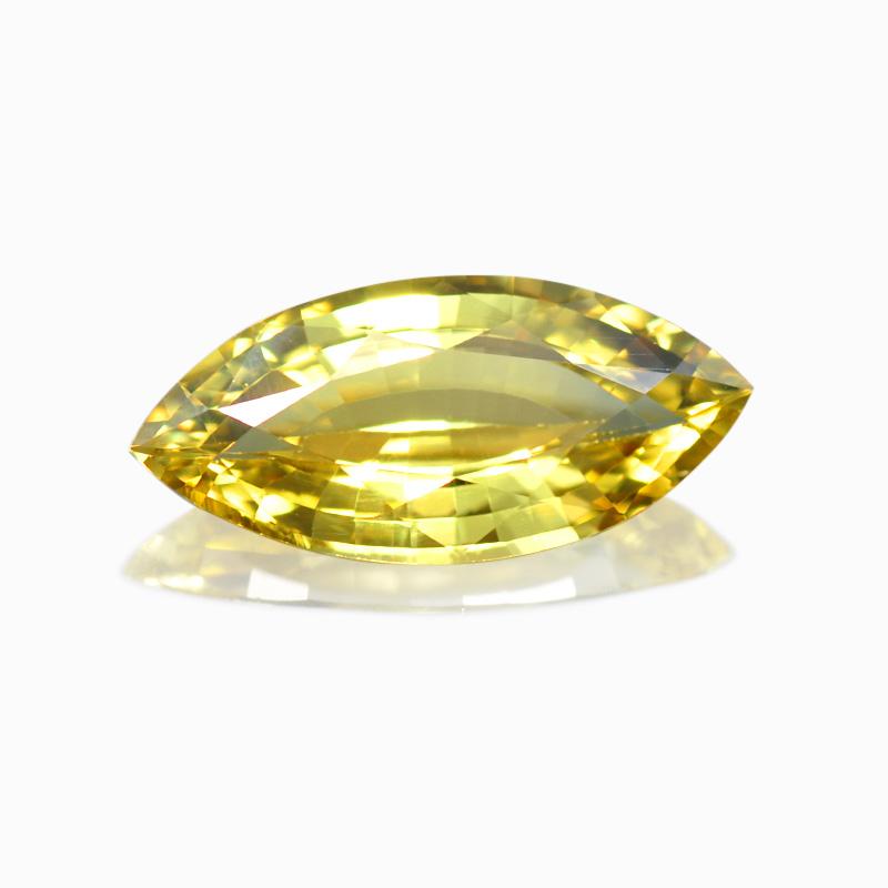 トップジェムクオリティ-イエロージルコン-ハナジマの宝石