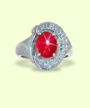 スタールビーダイヤモンドプラチナリング