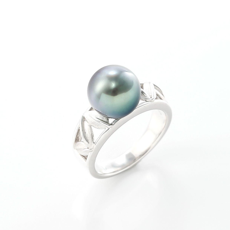 黒蝶真珠のリング 01