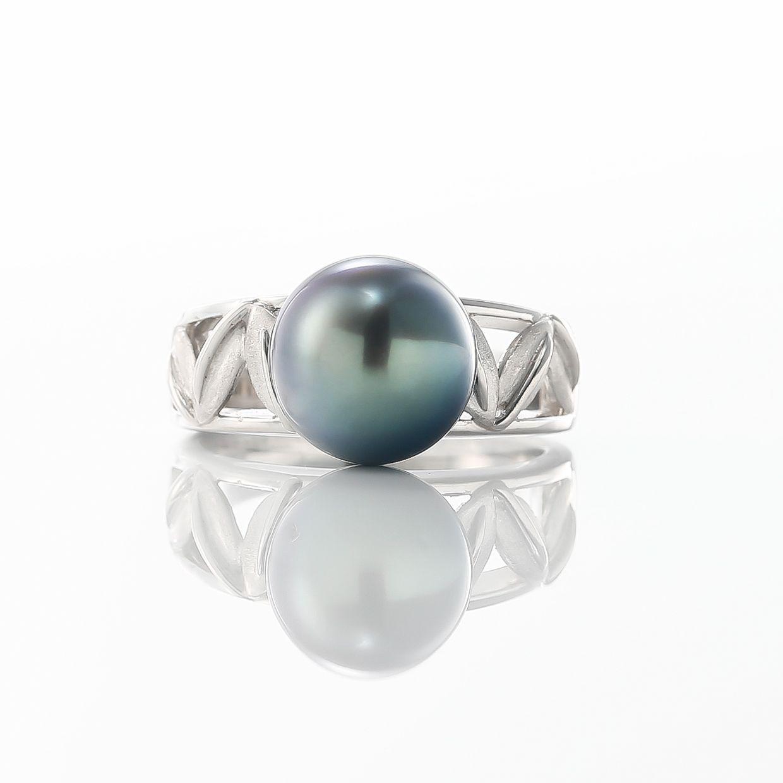 黒蝶真珠のリング 02