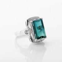 グリーントルマリンとダイヤモンドのリング 03