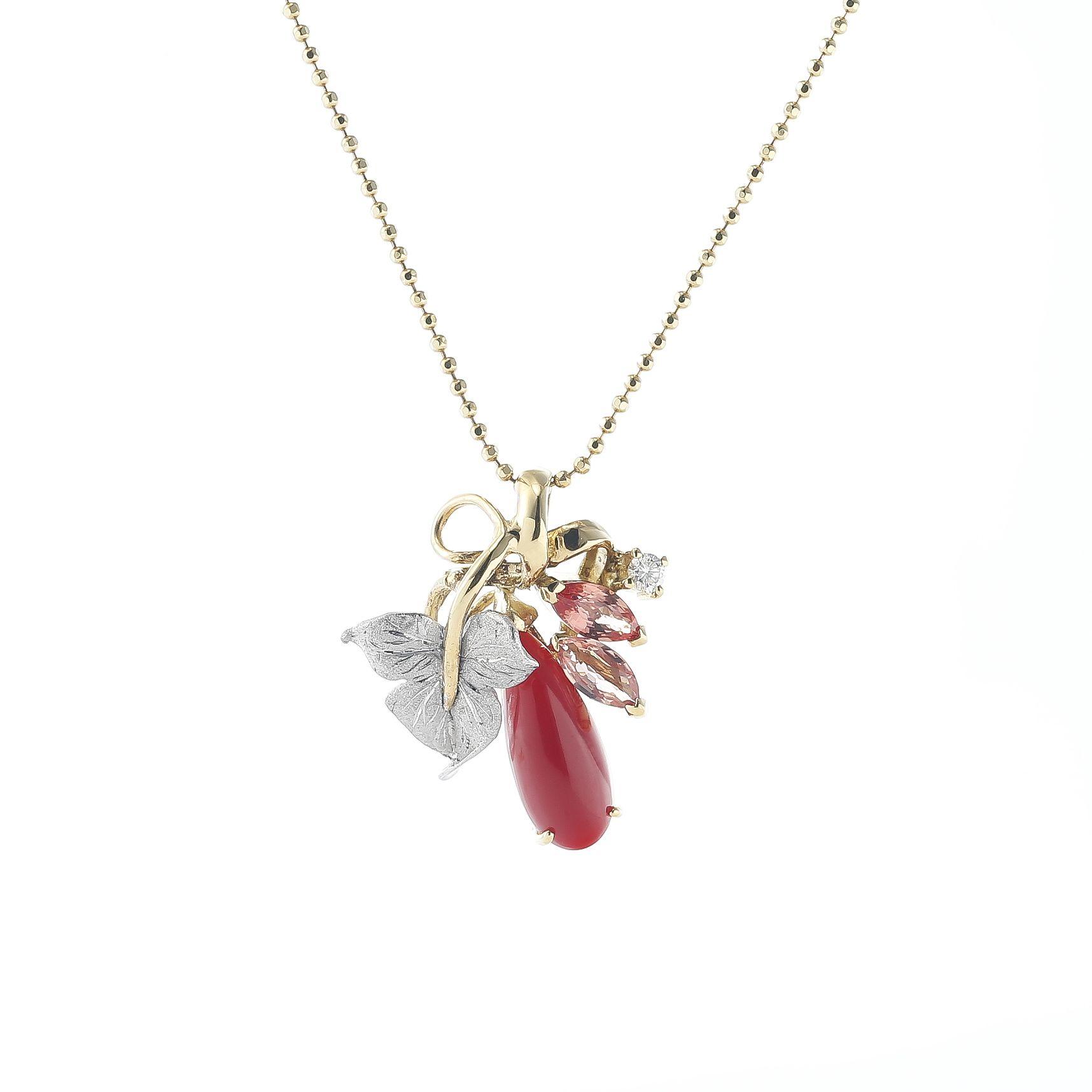 血赤珊瑚のネックレス 01