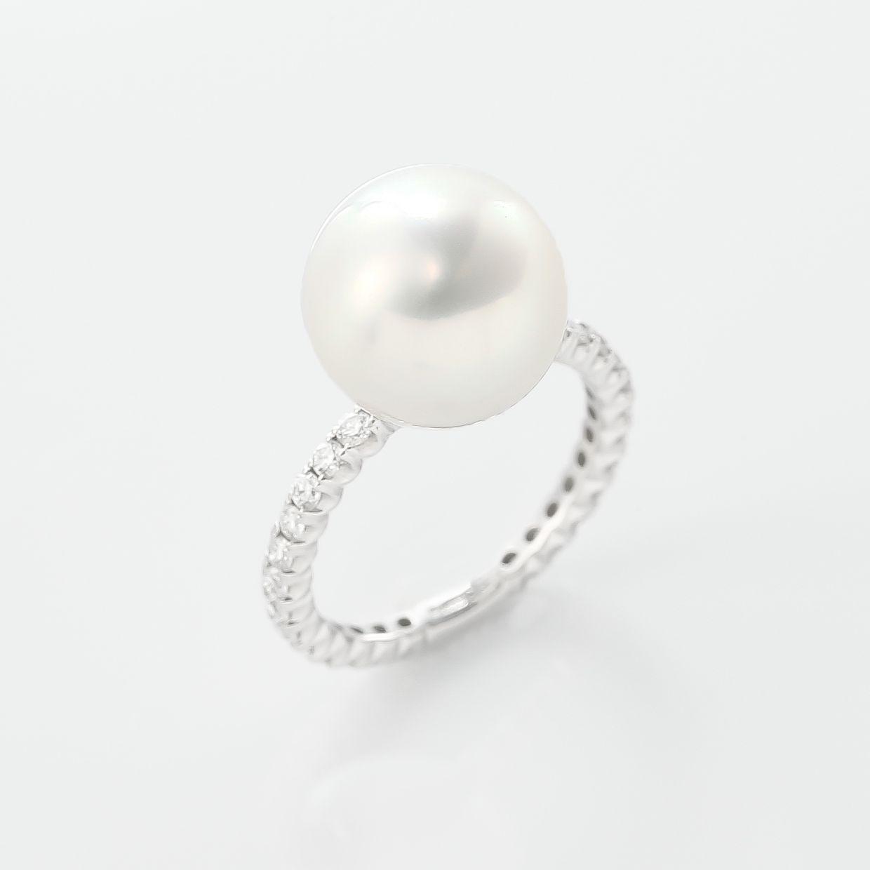白蝶真珠とダイヤモンドのエタニティのリング 01