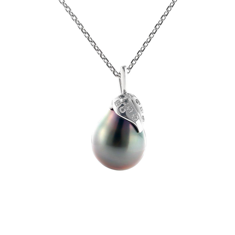 バロックの黒蝶真珠のペンダント 01
