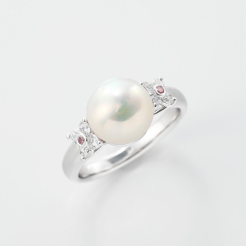 アコヤパールとピンクダイヤモンドのリング 01
