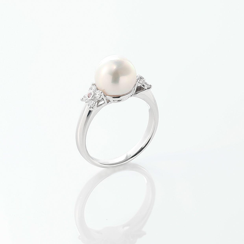 アコヤパールとピンクダイヤモンドのリング 02