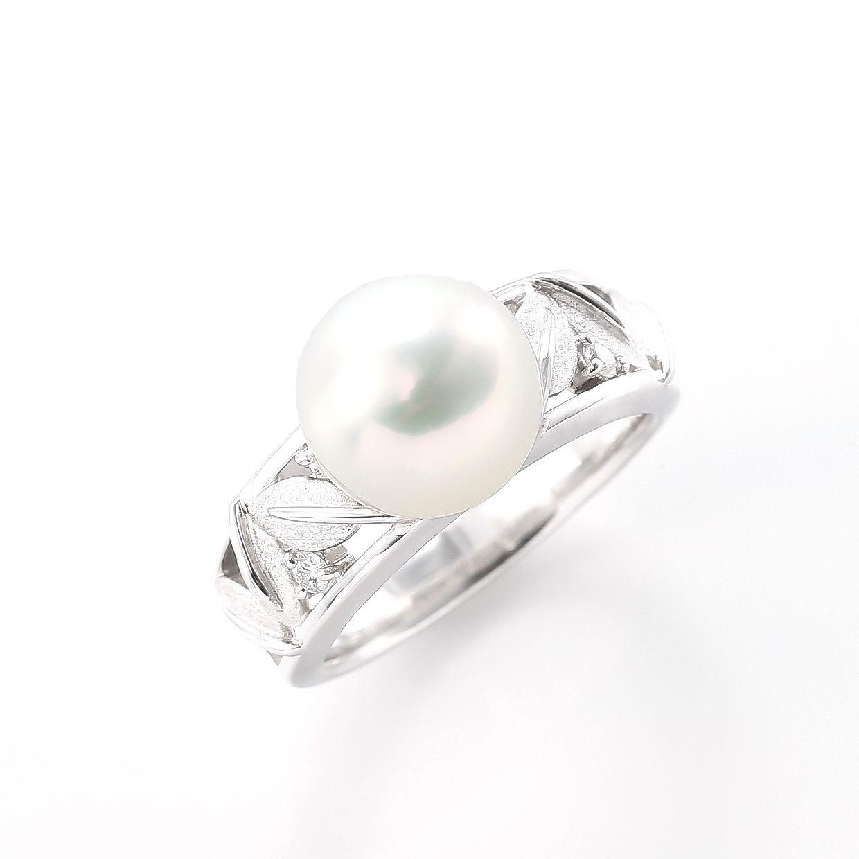 アコヤパールとダイヤモンドのリング 01