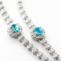 パライバトルマリンとダイヤモンドのネックレス 03