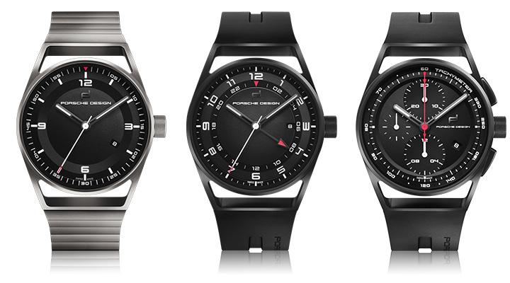 ポルシェデザインの1919シリーズ datetimer all titanium と globetimer allblack と chronotimer black&rubber