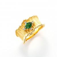 ガーネットとダイヤモンドのリング01