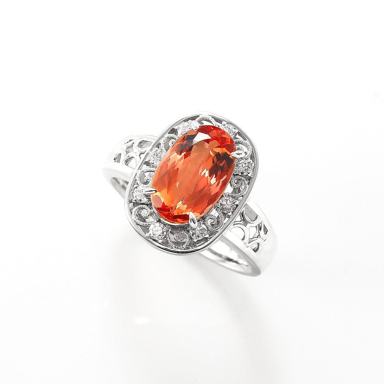 インペリアルトパーズとダイヤモンドのリング02