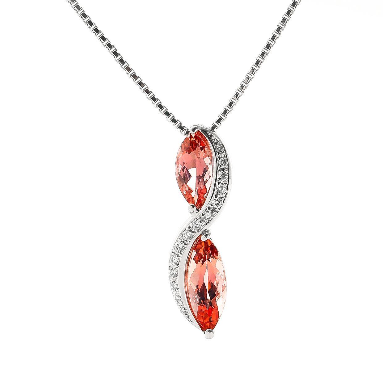 インペリアルトパーズとダイヤモンドのネックレス01