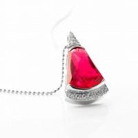 ルべライトとダイヤモンドのネックレス02
