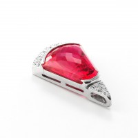 ルべライトとダイヤモンドのネックレス03