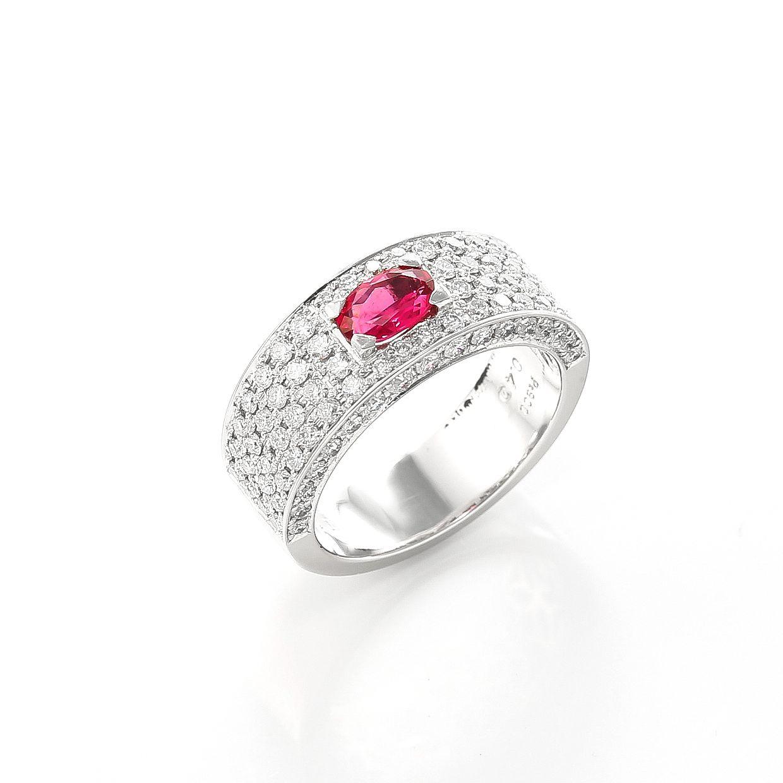 ルべライトとダイヤモンドのリング01