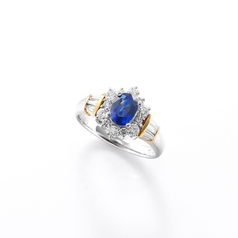 サファイアとダイヤモンドのリング02