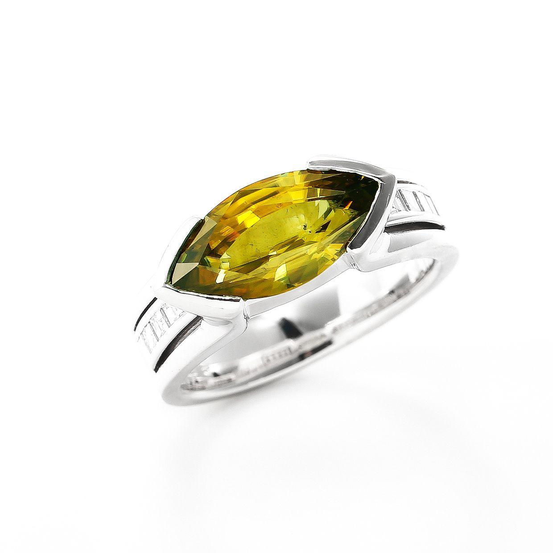 スフェーンとダイヤモンドのリング02