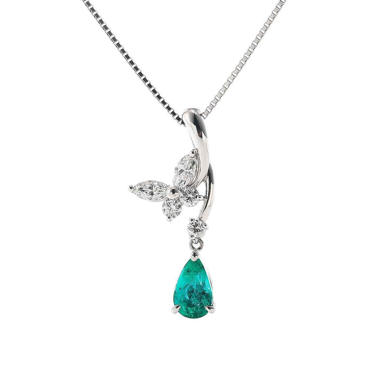 エメラルドとダイヤモンドのネックレス01