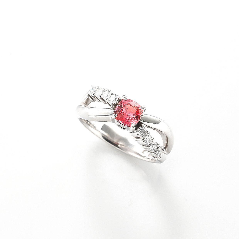 パパラチアサファイアとダイヤモンドのリング01