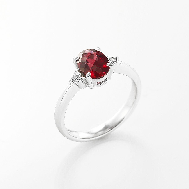 ガーネットとダイヤモンドのリング02