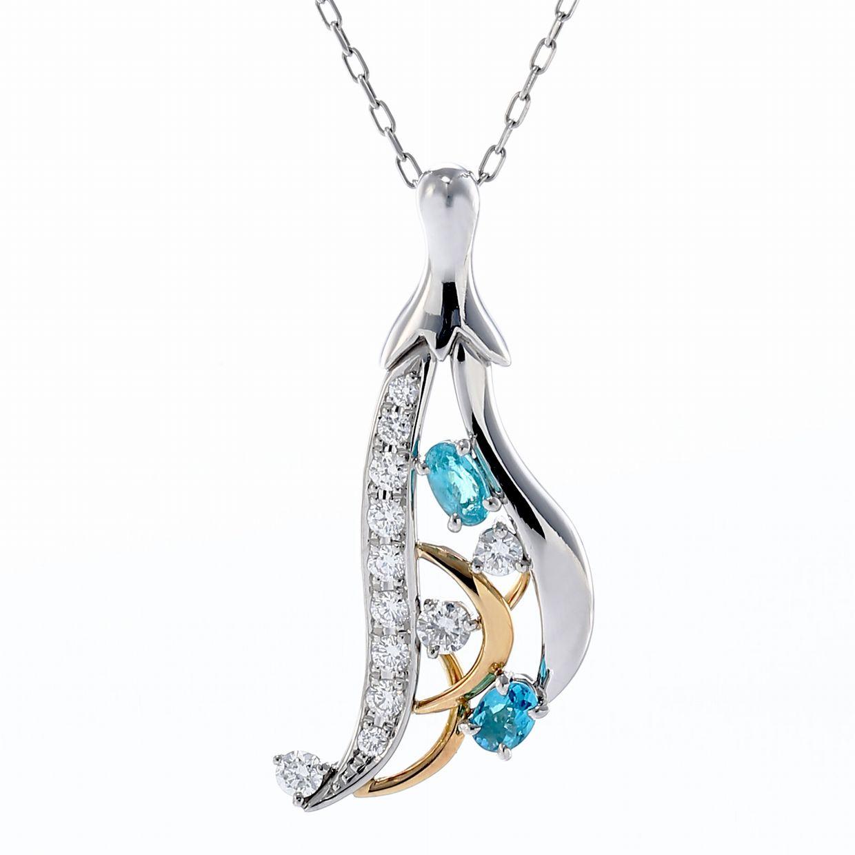 パライバトルマリンとダイヤモンドのペンダント01