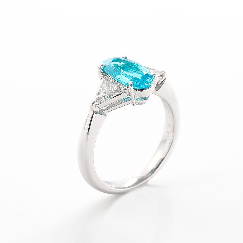 パライバトルマリンとダイヤモンドのリング01