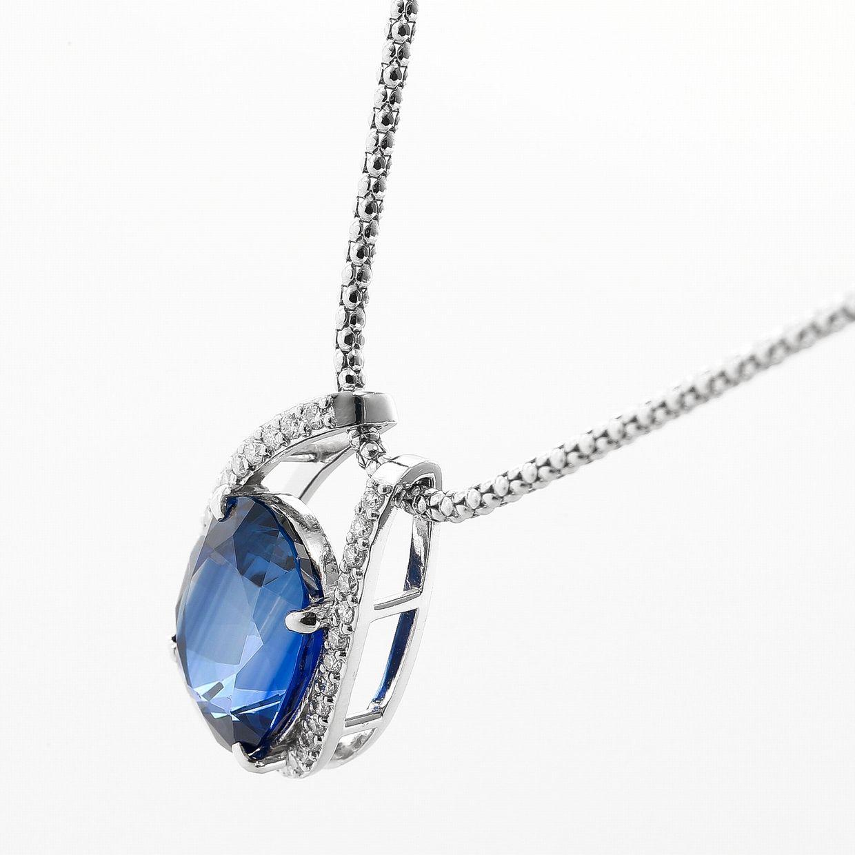 サファイヤとダイヤモンドのペンダントネックレス01