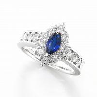 サファイヤとダイヤモンドのリング04