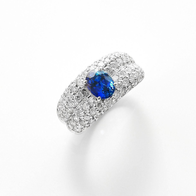 サファイヤとダイヤモンドのリング01