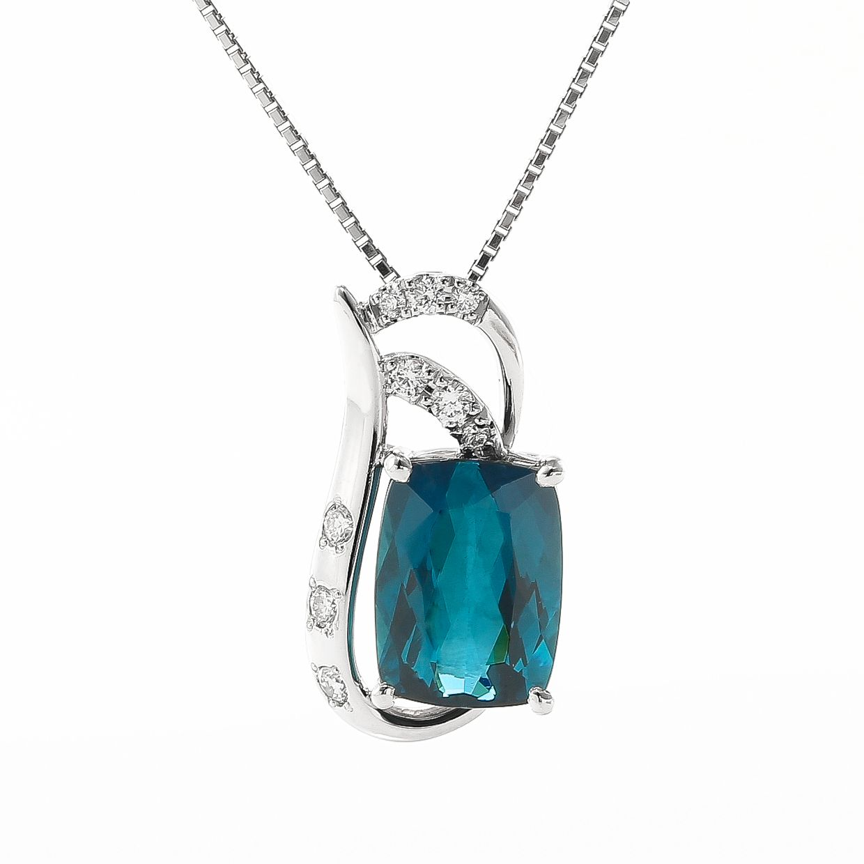 トルマリンとダイヤモンドのペンダント01