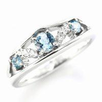 アクアマリンとダイヤモンドのリング04