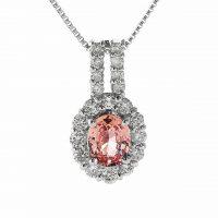 パパラチアとダイヤモンドのネックレス04