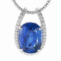 サファイヤとダイヤモンドのペンダントネックレス04