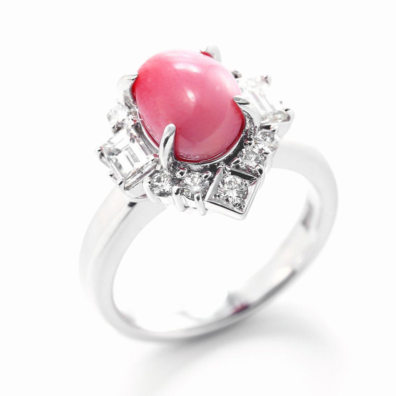 コンクパールとダイヤモンドのリング01