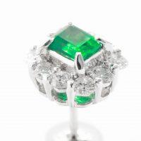 エメラルドとダイヤモンドのピアス03