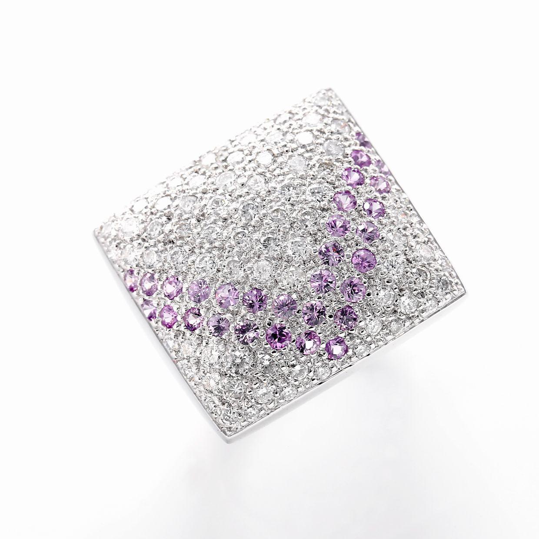 ピンクサファイアとダイヤモンドのリング01